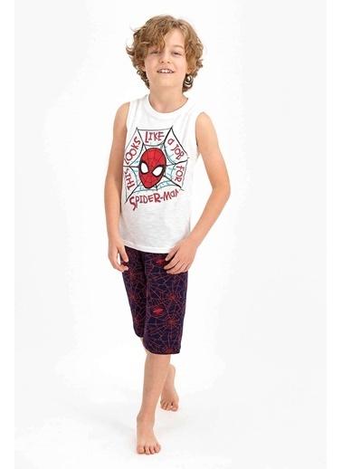 Spider-Man Spider Man Lisanslı Bejmelanj Erkek Çocuk Kapri Takım Krem